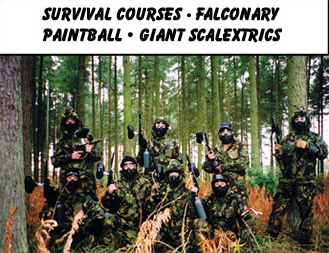 Survival courses - Falconary - Paintballing - Giant Scalextrics